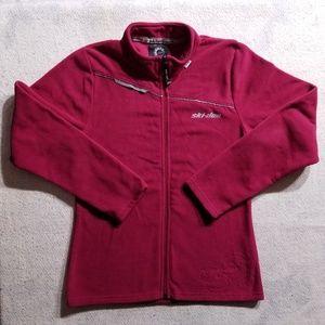 Ski-Doo Pink Full Zip-Up Long Sleeve Fleece Jacket